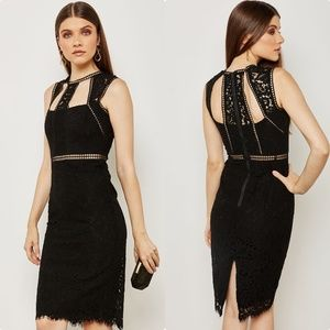 BARDOT Spliced Panel Midi Dress